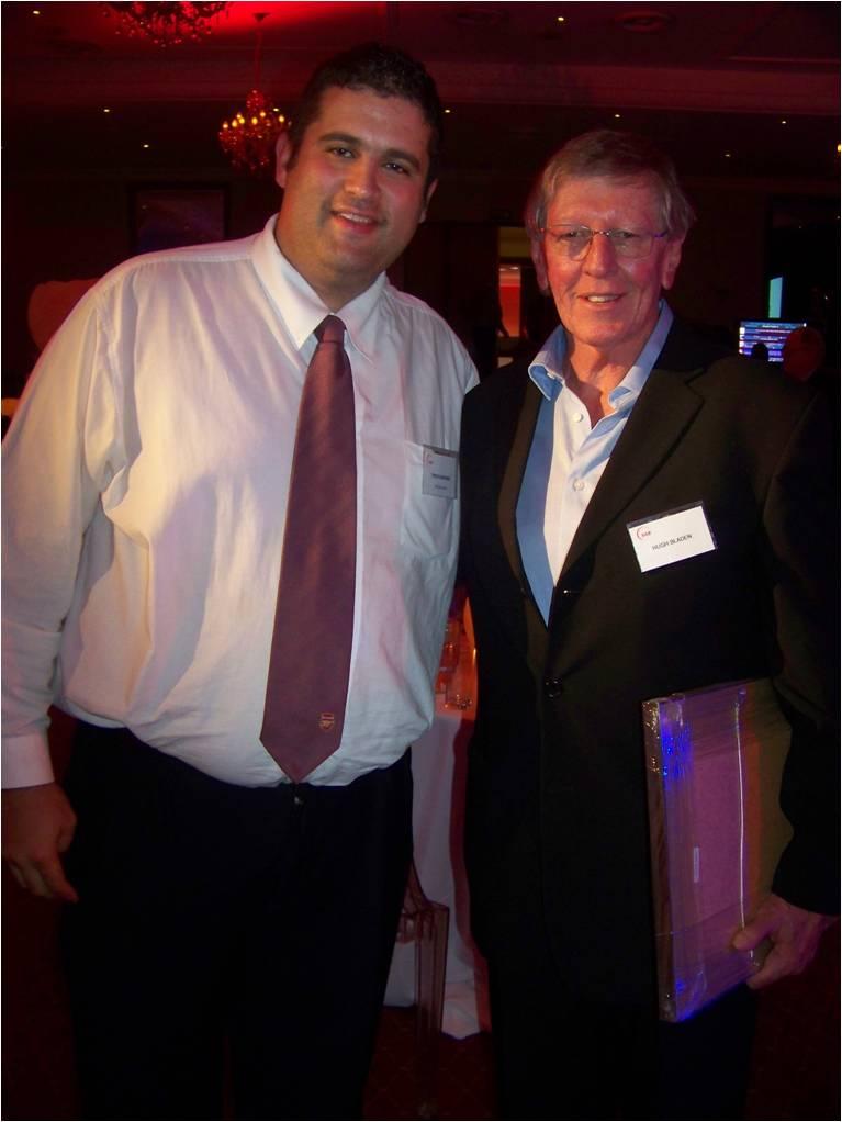 with Hugh Bladen