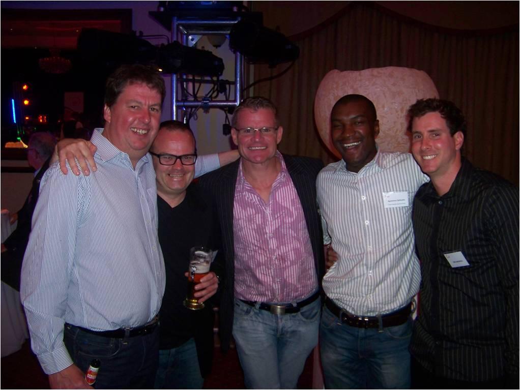 Gary Lemke, Kevin McCallum, Clinton van der Berg, Kgomotso Sethusha and Jon Cardinelli