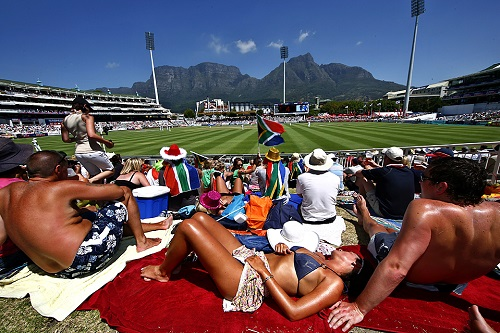 Day four of third cricket test match between South Africa and England in Cape Town