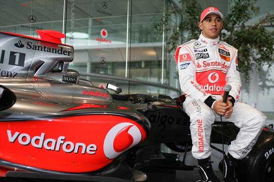 2009 McLaren MP4-24 Launch. McLaren Technology Centre, Woking. 16th January 2009. Lewis Hamilton, McLaren MP4-24 Mercedes.  World Copyright: Glenn Dunbar/LAT Photographic ref: Digital ImageYY8P0025.jpg