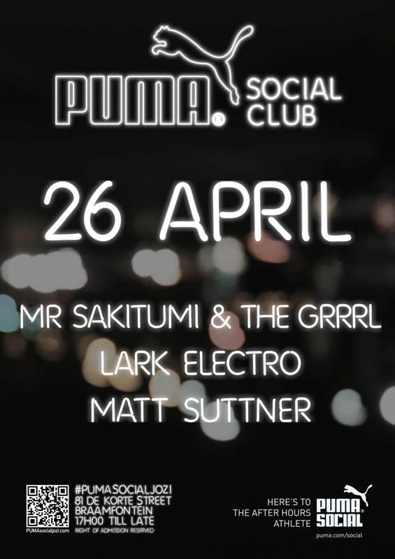 PUMA Social Club Jozi_Line Up_26 April 2013