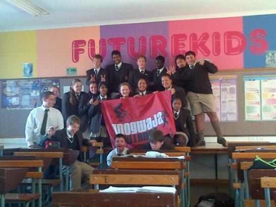 A-J's grade 8 class