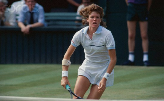 24 Jul 1984 --- United States tennis professional Kathy Jordan seen in action on the court as she rushes the net. --- Image by © Bettmann/CORBIS