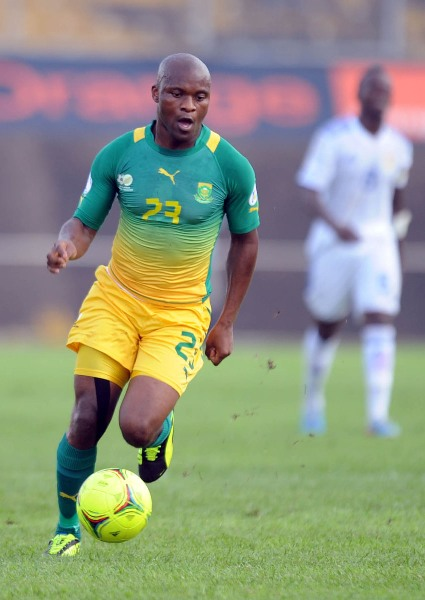 Tokelo Rantie of South Africa during the 2014 Fifa World Cup Qualifier match between Central African Republic and South Africa on the 08 June 2013 at Omnisport Stadium Yaounde ©Sydney Mahlangu /BackpagePix