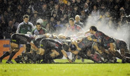 With that much force, the scrum has to go somewhere