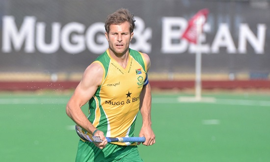 Photo - Marcel Sigg Austin Smith, the SA Captain, will be busy with the Hockey India League