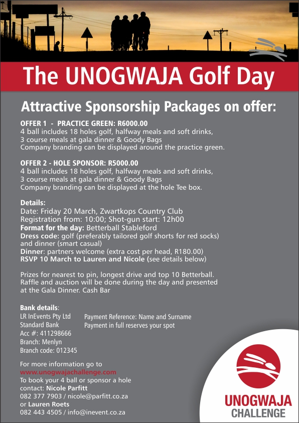 Unogwaja Golf Day sponsorship packages FINAL